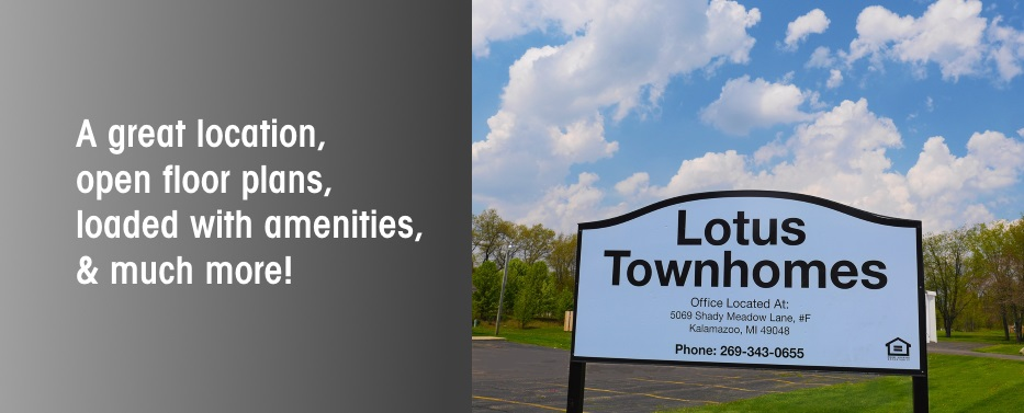 Apartments In Kalamazoo Mi For Rent Lotus Townhomes